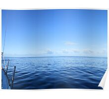 view of sailing clouds from aboard  Poster