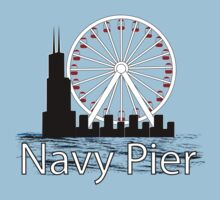 Navy PIer One Piece - Short Sleeve