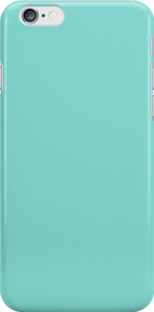 Tiffany Blue Fabric Print Iphone Case by Detnecs2013
