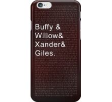 The Scoobies, Buffy the Vampire Slayer iPhone Case/Skin