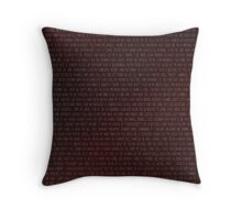 Buffy Quotes Throw Pillow