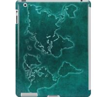 World map blue light iPad Case/Skin
