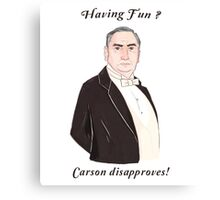 Carson Disapproves!  Canvas Print