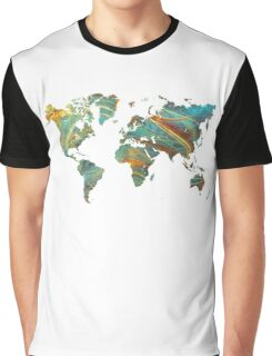 world map Graphic T-Shirt