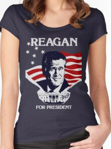 Reagan For President Women's Fitted Scoop T-Shirt
