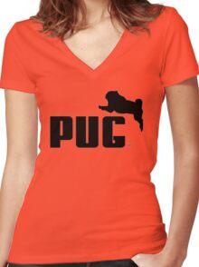 PUMA PUG Women's Fitted V-Neck T-Shirt