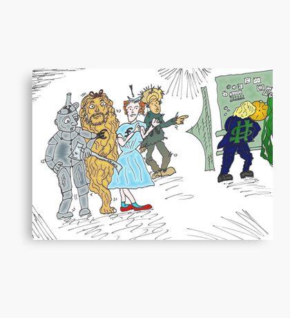 Forex wizard of Oz cartoon Canvas Print