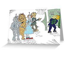Forex wizard of Oz cartoon Greeting Card