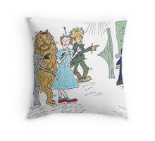 Forex wizard of Oz cartoon Throw Pillow