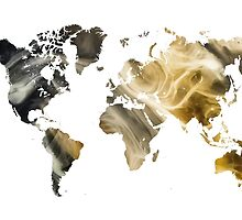 World Map Sandy world by JBJart