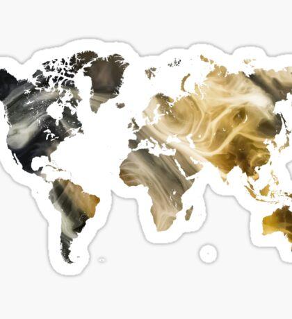 World Map Sandy world Sticker