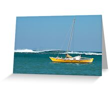 The Catamaran & The Cormorants Greeting Card