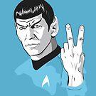 Star Trek Spock obscene hand gesture by Creative Spectator