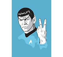 Star Trek Spock obscene hand gesture Photographic Print