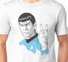 Star Trek Spock obscene hand gesture Unisex T-Shirt