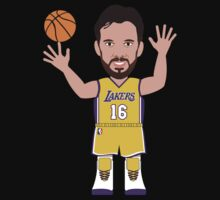NBAToon of Pau Gasol, player of Los Angeles Lakers by D4RK0