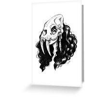 Sabertooth Warrior Greeting Card