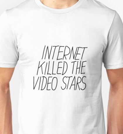Justice DANCE Internet Kill The Video Star Unisex T-Shirt