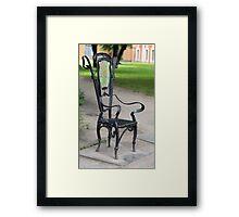 Garden Seat Framed Print