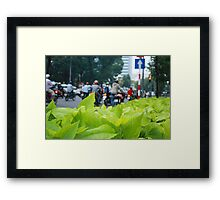 Leaves & Bikes Framed Print