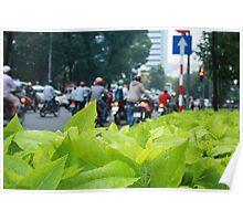Leaves & Bikes Poster