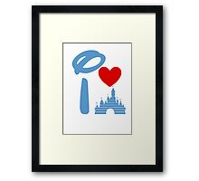 I Heart Sleeping Beauty (Inverted) Framed Print