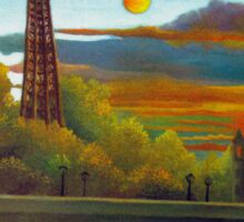 Henri Rousseau - Seine and Eiffel Tower in the Sunset Sticker
