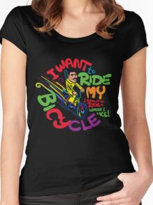 Freddie's Bicycle Women's Fitted Scoop T-Shirt