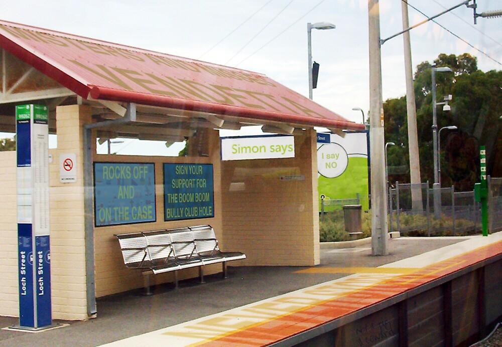 Simon Says - Bully Train Platform by Robert Phillips