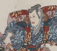 Ishikawa goemon ichidai banashi sawamura gennosuke ichikawa danjūrō 002 Sticker