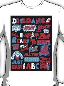 Justice DANCE Lyrics by So Me T-Shirt