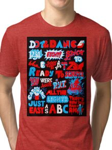 Justice DANCE Lyrics by So Me Tri-blend T-Shirt