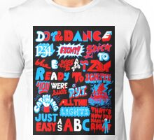 Justice DANCE Lyrics by So Me Unisex T-Shirt