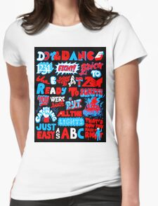 Justice DANCE Lyrics by So Me Womens Fitted T-Shirt