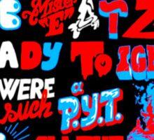 Justice DANCE Lyrics by So Me Sticker