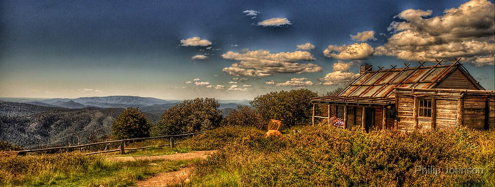 Snowy Mountain High - Craig's Hut - The HDR Experience by Philip Johnson
