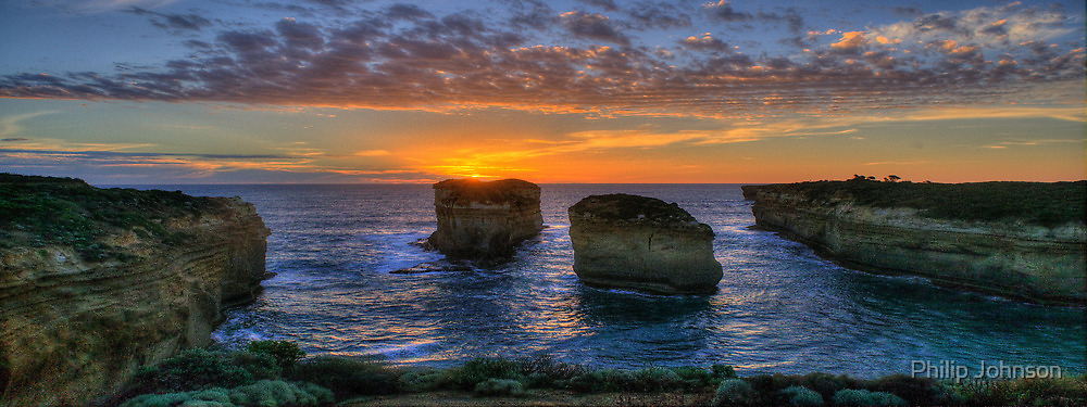 Last Light - Great Ocean Road, Victoria Australia - The HDR Experience by Philip Johnson