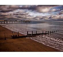 Teignmouth Beach and Pier Photographic Print