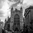 The busy streets of Bath by Stevie B