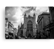 The busy streets of Bath Canvas Print