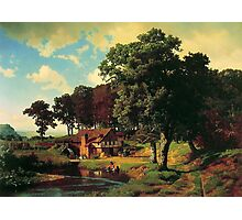 Bierstadt Albert A Rusty Mill.  American great artist fine landscape oil painting. Photographic Print