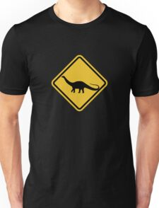 Beware of Apatosaurus Road Sign Unisex T-Shirt