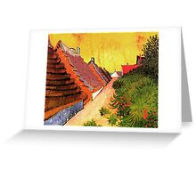 Street in Saintes Marie, Vincent van Gogh.   Greeting Card