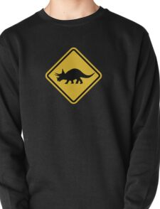 Beware of Triceratops Road Sign Pullover