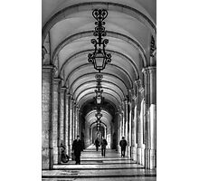 Arcade - Praça do Comérco: Lisbon, Portugal Photographic Print