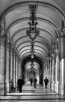 Arcade - Praça do Comérco: Lisbon, Portugal by Ursula Rodgers