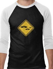 Beware of UFO Road Sign Men's Baseball ¾ T-Shirt