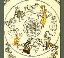 Greetings-Kate Greenaway-Circle of Children by Yesteryears
