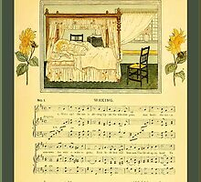 Greetings-Kate Greenaway-Waking by Yesteryears