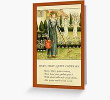 Greetings-Kate Greenaway-Mary, Mary Greeting Card